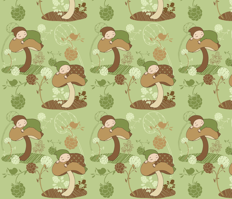 Forest baby fabric by peikonpoika{by}brunou on Spoonflower - custom fabric