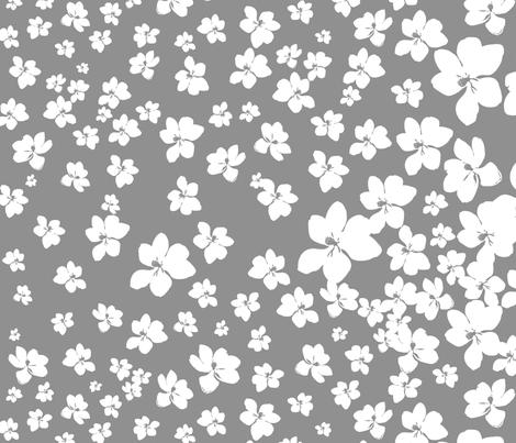 Magnolia Little Gem - Grey - 1 yard panel fabric by kristopherk on Spoonflower - custom fabric