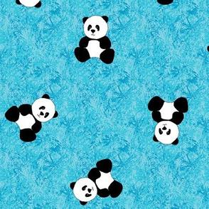 Panda Tumbles - Sky Blue
