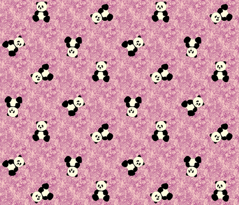 Panda Tumbles - Amethyst fabric by inscribed_here on Spoonflower - custom fabric