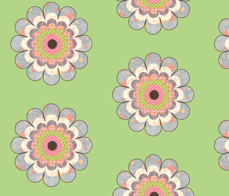 floweronpalegreen fabric by snork on Spoonflower - custom fabric