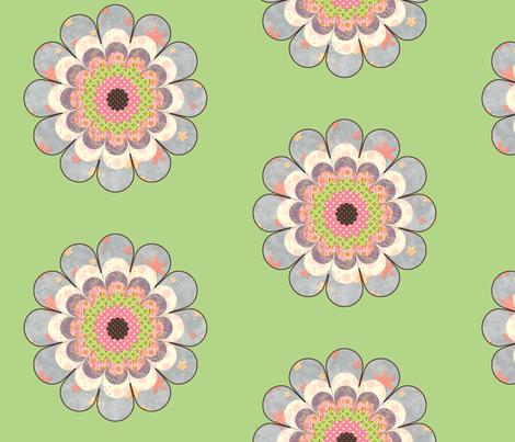 floweronpalegreen fabric by snork on Spoonflower - custom fabric