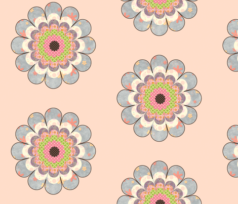 floweronpink fabric by snork on Spoonflower - custom fabric