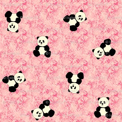 Panda Tumbles - Strawberry Pink