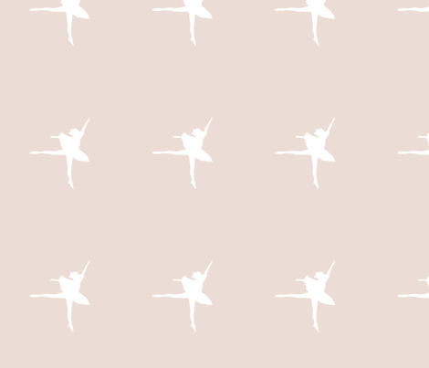 ballerina_siloette_parchment fabric by tali on Spoonflower - custom fabric