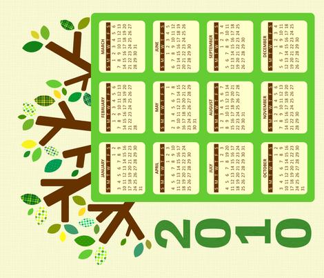 2010 Hanging Calendar fabric by jesseesuem on Spoonflower - custom fabric