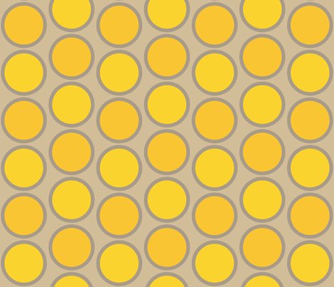 mod_circles_yellow fabric by holli_zollinger on Spoonflower - custom fabric