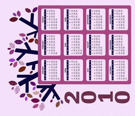2010 Hanging Calendar - Plum