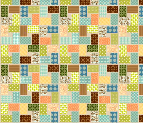 owl_4_square_repeat fabric by petunias on Spoonflower - custom fabric