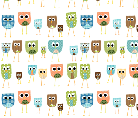 multi_owls_-_white_background