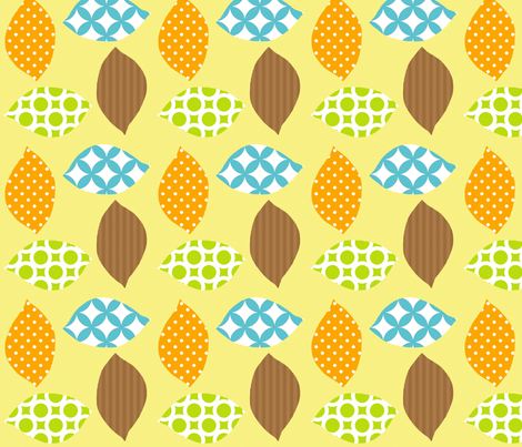 leaf_4_square fabric by petunias on Spoonflower - custom fabric
