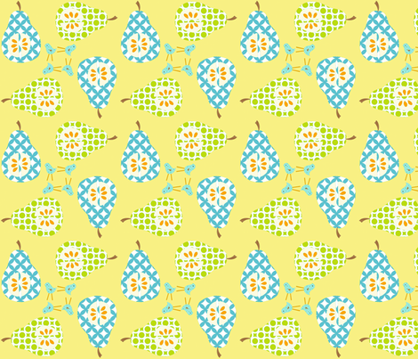 pears_4_square fabric by petunias on Spoonflower - custom fabric