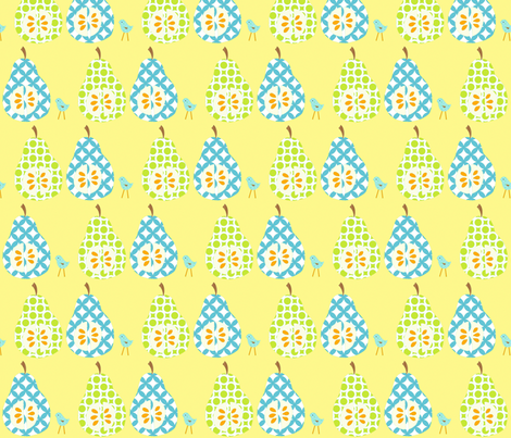 pears_in_repeat_final fabric by petunias on Spoonflower - custom fabric
