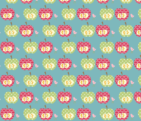 2_apples_final fabric by petunias on Spoonflower - custom fabric