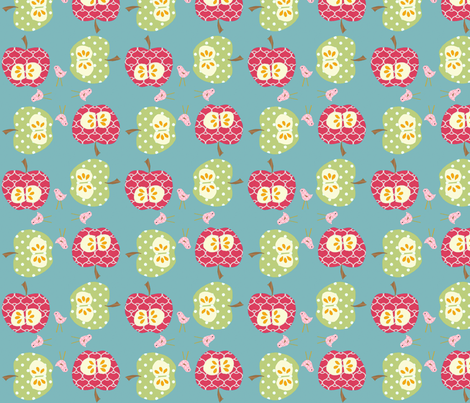 apples_4_square fabric by petunias on Spoonflower - custom fabric