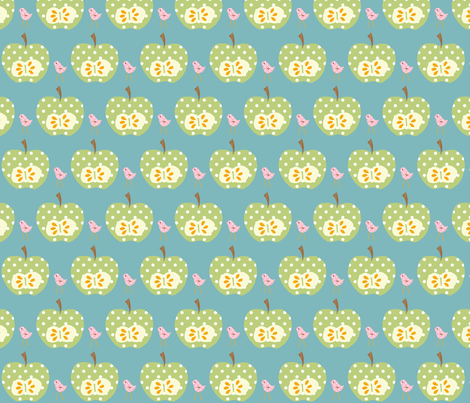 green_apple fabric by petunias on Spoonflower - custom fabric
