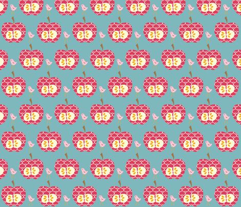 hot_red_apple_final fabric by petunias on Spoonflower - custom fabric