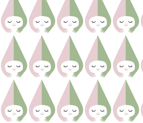 Little Miss fabric by pinkasapeach on Spoonflower - custom fabric