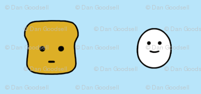 Mr Toast & Joe the Egg faces