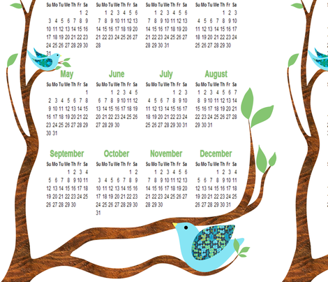 calendar fabric by vo_aka_virginiao on Spoonflower - custom fabric