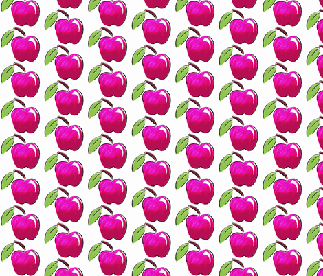 Pink Apple-ed fabric by chirp! on Spoonflower - custom fabric