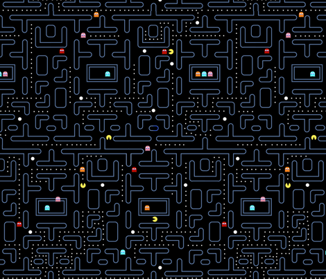Mock Pacman 2.0 fabric by pixeldust on Spoonflower - custom fabric