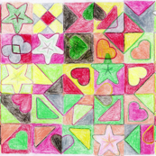 Star & Heart end paper