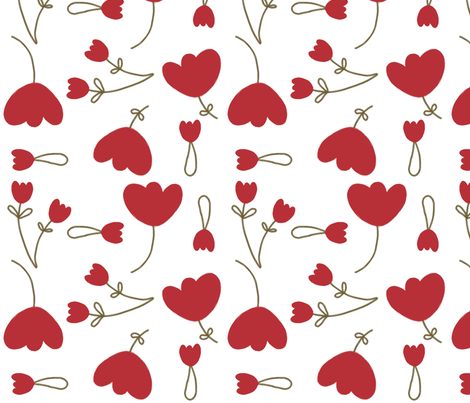 sweet floral tulips fabric by emilyb123 on Spoonflower - custom fabric