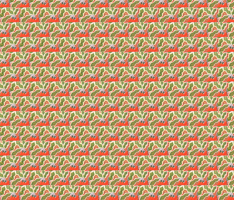 Eat Your Peas 'n' Carrots fabric by societydeb on Spoonflower - custom fabric