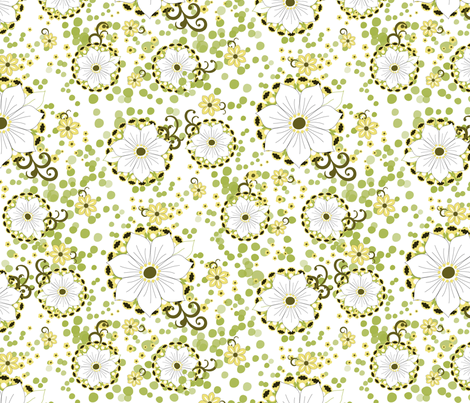 Whisper Grove fabric by eedeedesignstudios on Spoonflower - custom fabric