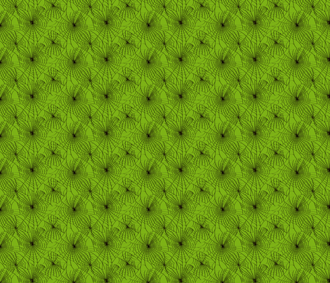 Spidery Web -  Zombie Green fabric by voodoorabbit on Spoonflower - custom fabric
