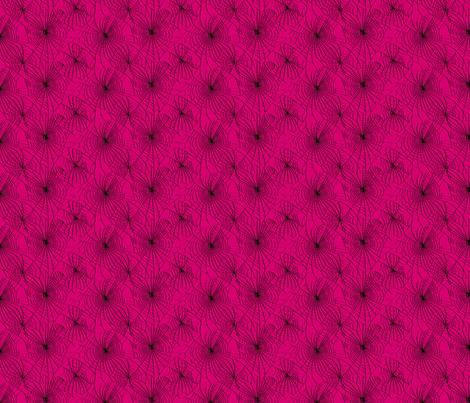 Spidery Web - Shocking Pink fabric by voodoorabbit on Spoonflower - custom fabric