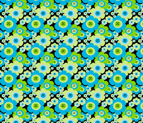Mod Blossom Blue fabric by gottacre8! on Spoonflower - custom fabric