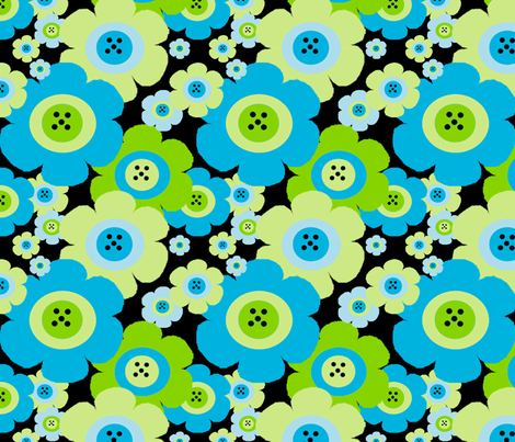 Mod Blossom fabric by gottacre8! on Spoonflower - custom fabric