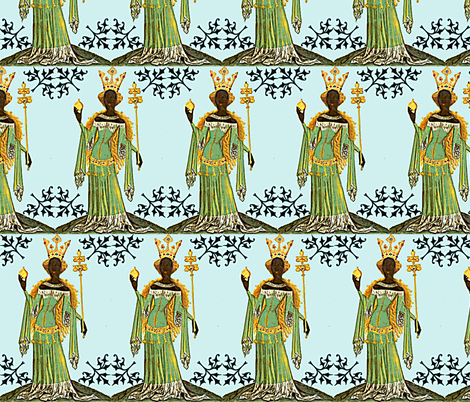 Makeda, Queen of Sheba fabric by nalo_hopkinson on Spoonflower - custom fabric