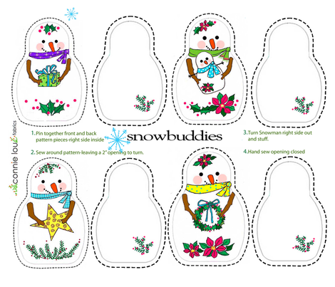 Snow Buddies fabric by connielou on Spoonflower - custom fabric