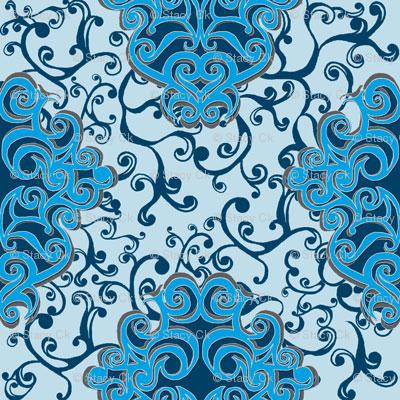 SCK - Blue Floral Damask