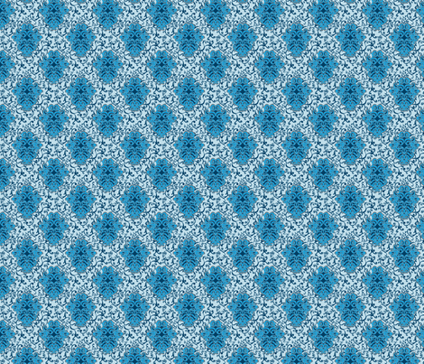 SCK - Blue Floral Damask fabric by stacyck on Spoonflower - custom fabric
