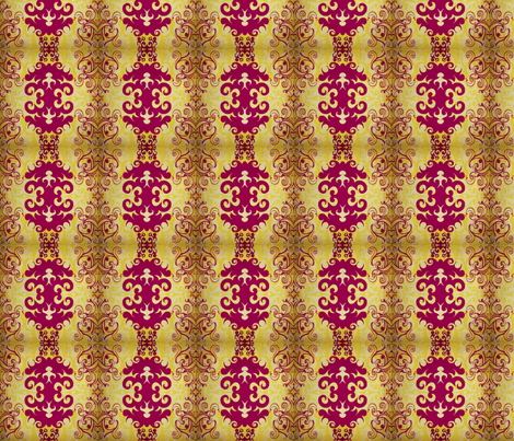 SCK - Spring Damask Antiqued fabric by stacyck on Spoonflower - custom fabric