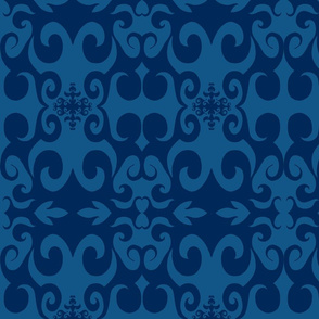 SCK - Blue on Blue Damask