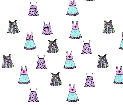 little_dresses_2 fabric by sequingirlie on Spoonflower - custom fabric