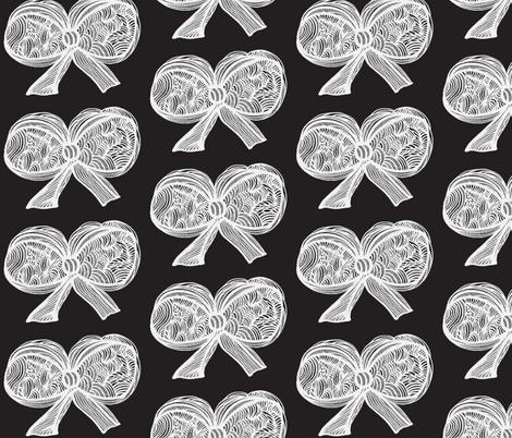 JamJax white on blk fabric by jamjax on Spoonflower - custom fabric