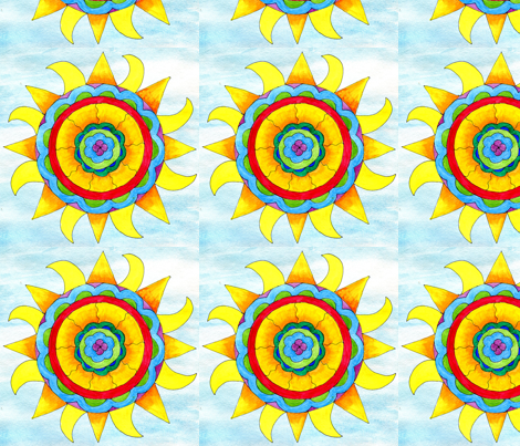 Winter Solstice Sun fabric by gottacre8! on Spoonflower - custom fabric