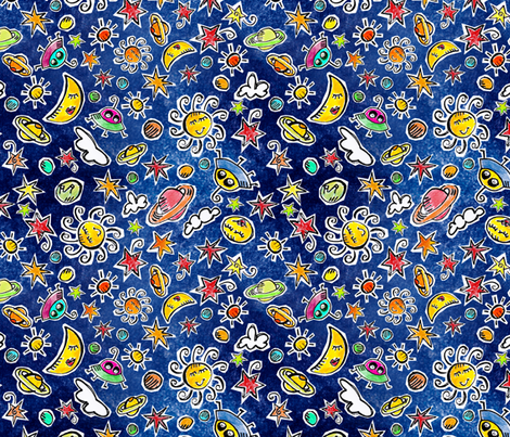 sun-moon-stars fabric by stefanie_vh on Spoonflower - custom fabric