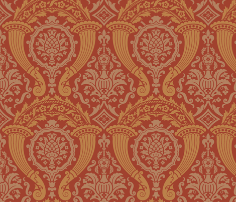 Damask 12a fabric by muhlenkott on Spoonflower - custom fabric