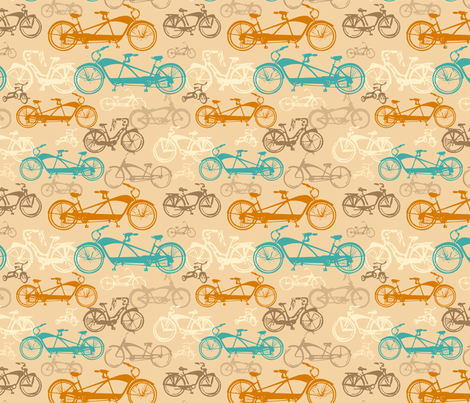 Beach Bikes fabric by twobloom on Spoonflower - custom fabric