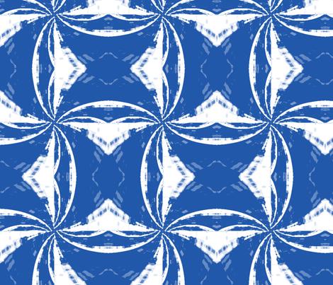 bluewhite_pinwheel_Picnik_collage fabric by khowardquilts on Spoonflower - custom fabric