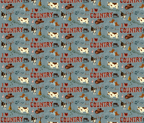 I love Country fabric by chesirella on Spoonflower - custom fabric