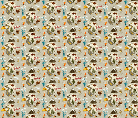 Yeehaw Yellowstone fabric by chesirella on Spoonflower - custom fabric