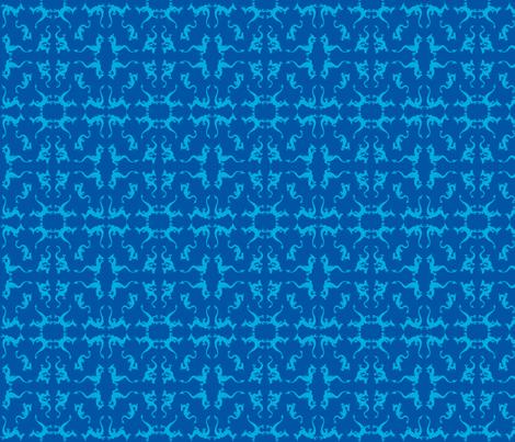 blue dragons fabric by zomo on Spoonflower - custom fabric